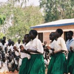 Traditional dance at village school