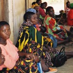 Mothers waiting at the Mother and Child clinic