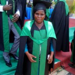 Joyce on her graduation day